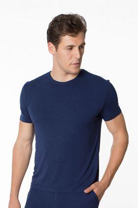 Erkek Yuvarlak Yaka Kısa Kollu Modal T-shirt