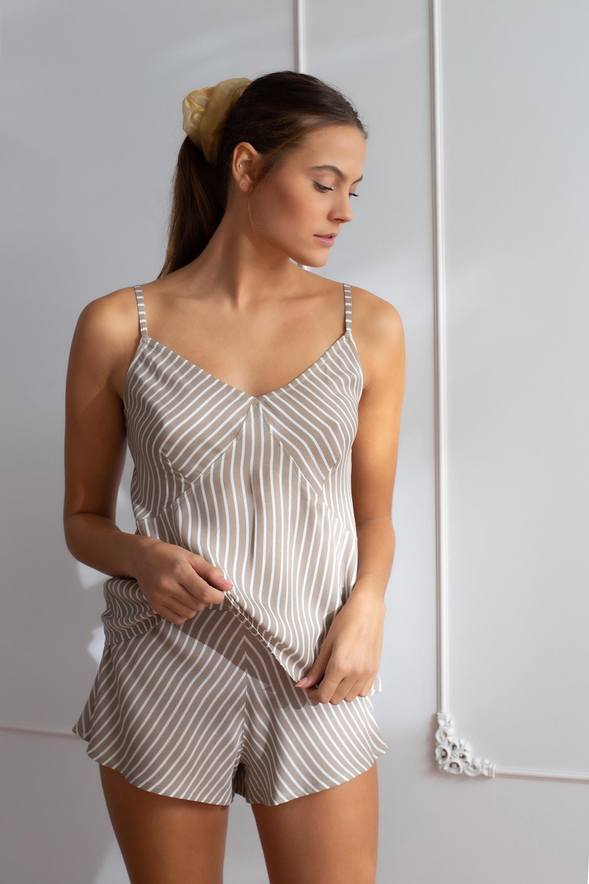 Hays Kadın Askılı Şortlu Ev Giyim Takım