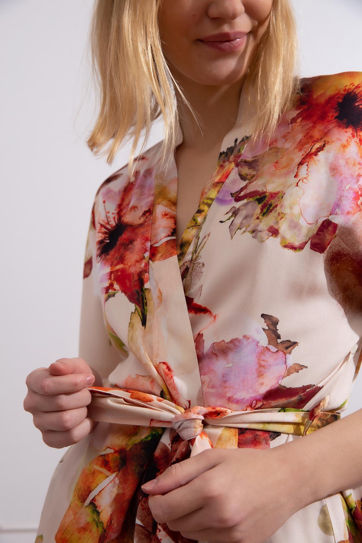 Hays Kadın Bağlama Detaylı Şortlu Ev Giyim Takım