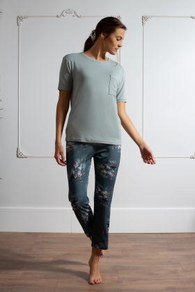 Kadın Midi Kapri Pijama Takımı
