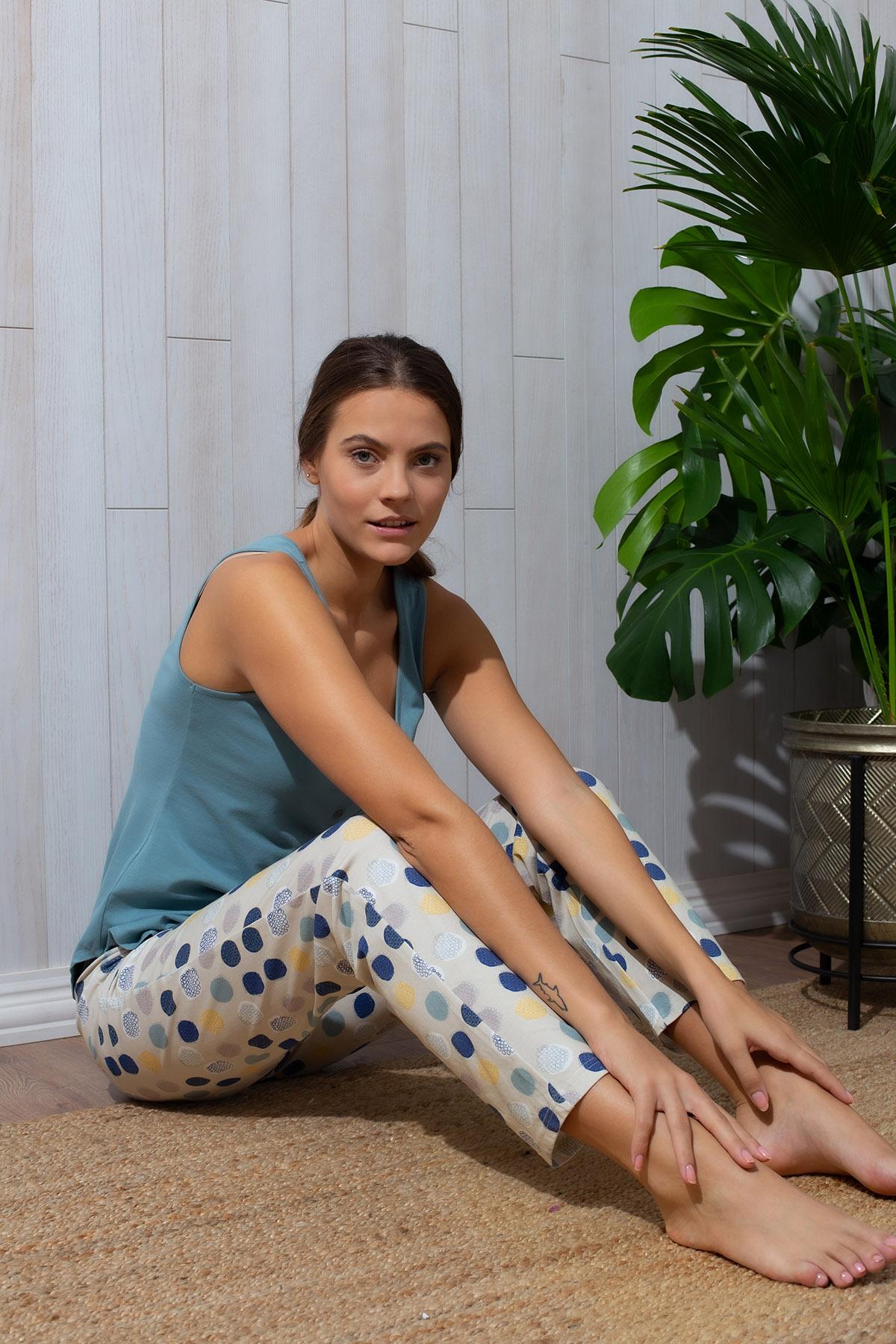 Hays Kadın Midi Kapri Pijama Takımı