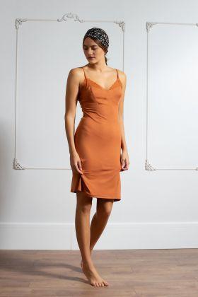 Kadın Askılı Dantel Detaylı Elbise