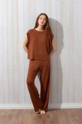 Kadın Pantolonlu Uzun Ev Giyim Takım