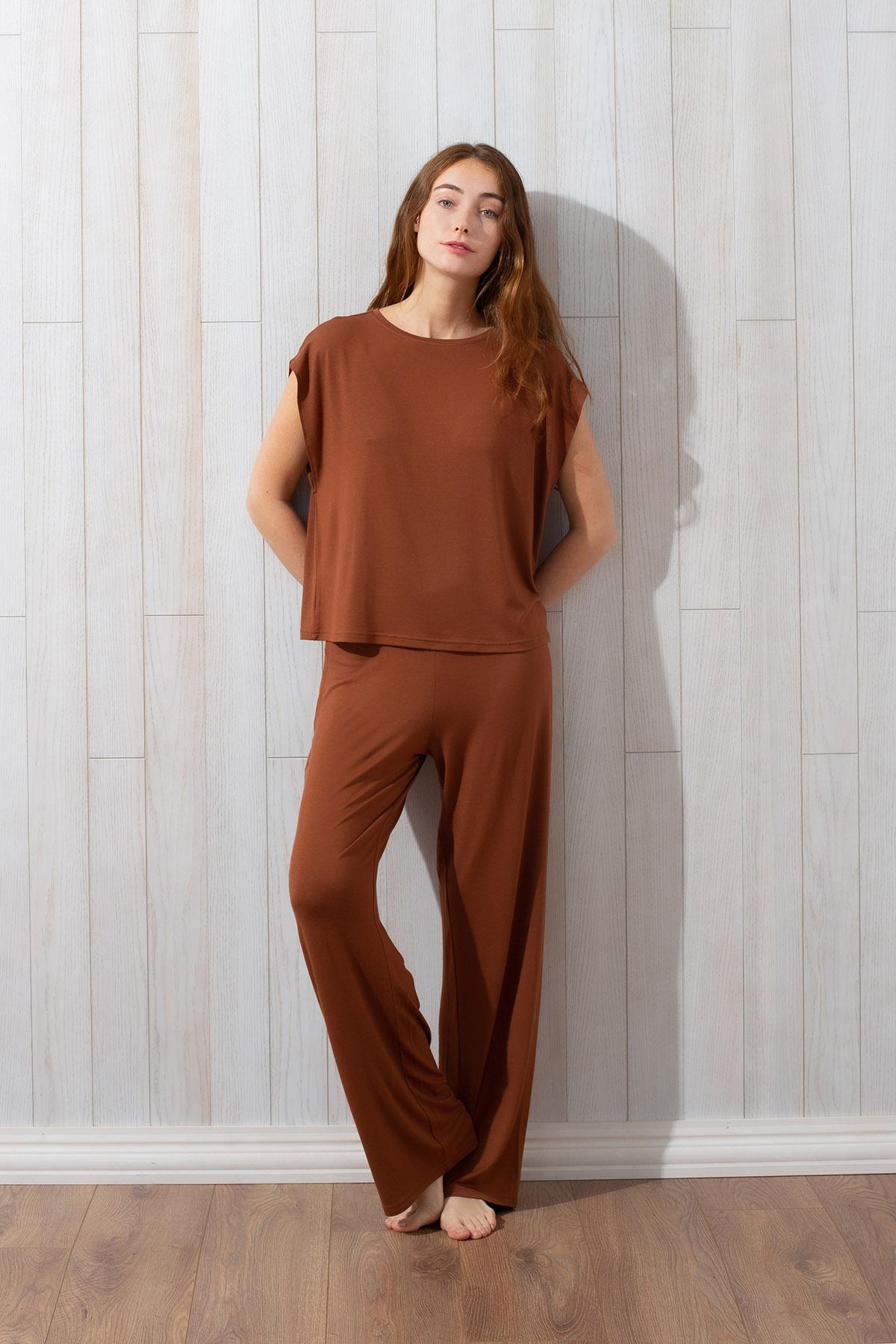 Hays Kadın Pantolonlu Uzun Ev Giyim Takım