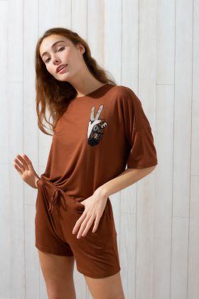 Kadın Şortlu Ev Giyim Takım