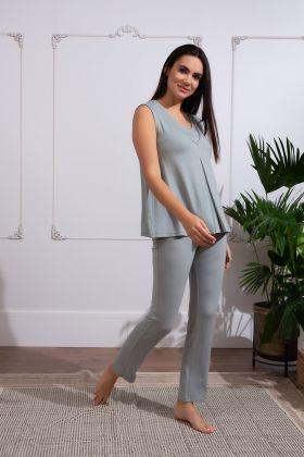 Kadın Lohusa Uzun Ev Giyim Takım