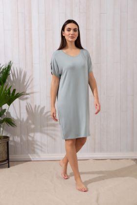 Kadın Büyük Beden Kısa Kollu Elbise