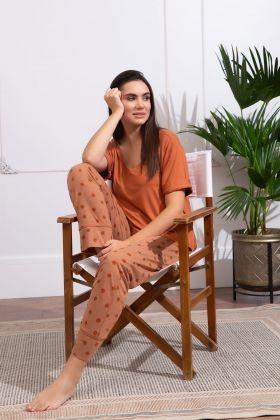 Kadın Büyük Beden Midi Kapri Pijama Takımı