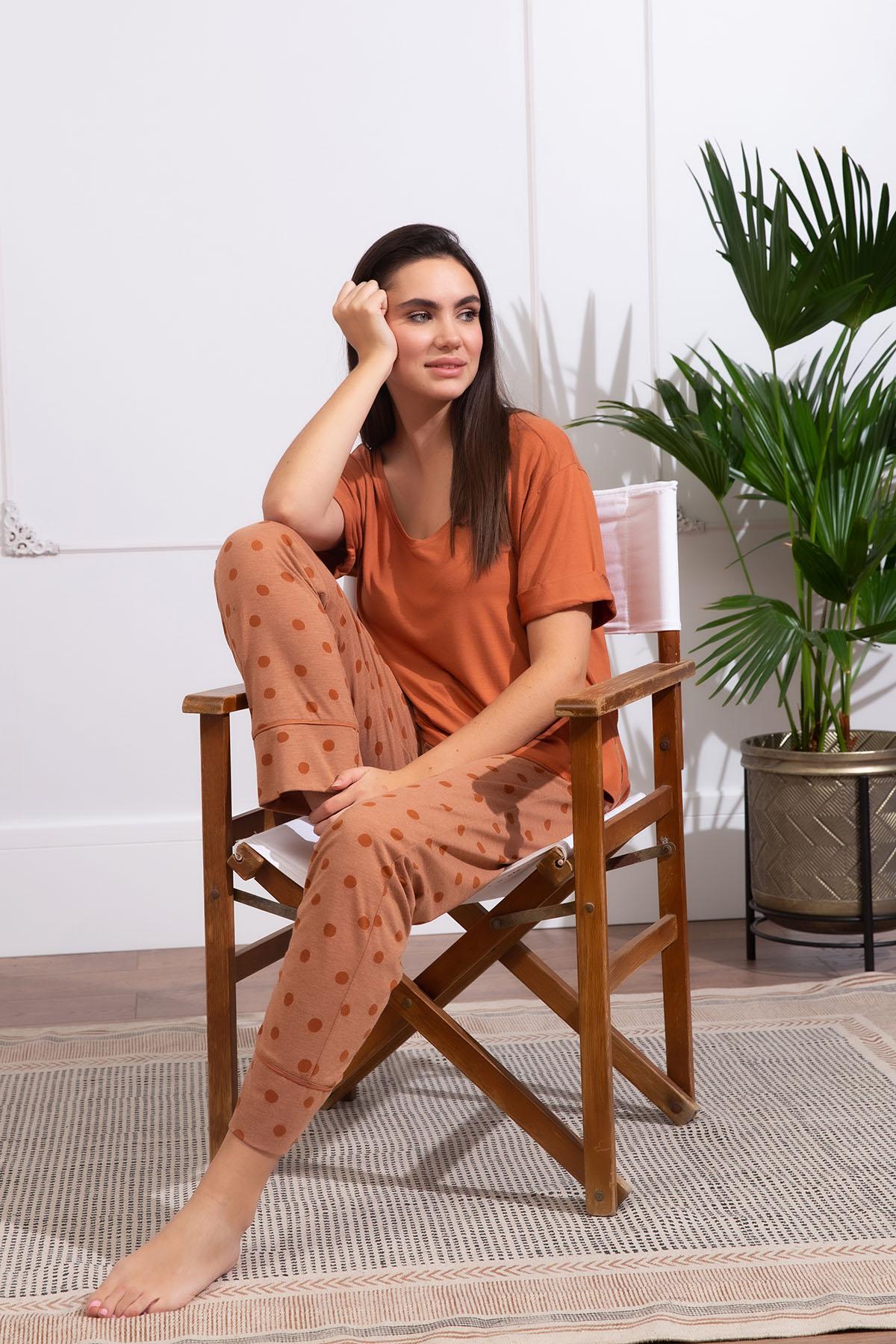Hays Kadın Büyük Beden Midi Kapri Pijama Takımı