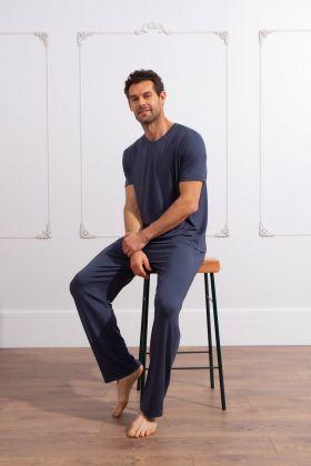 Erkek Uzun Modal Ev Giyim Takım