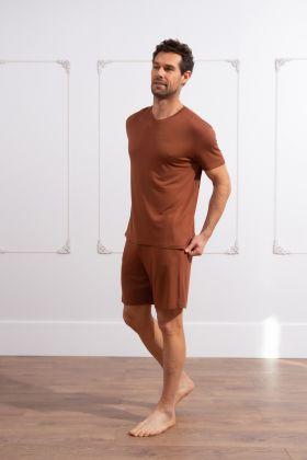 Erkek Modal Şortlu Ev Giyim Takım