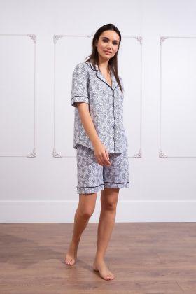 Kadın Büyük Beden Şortlu Pijama Takım