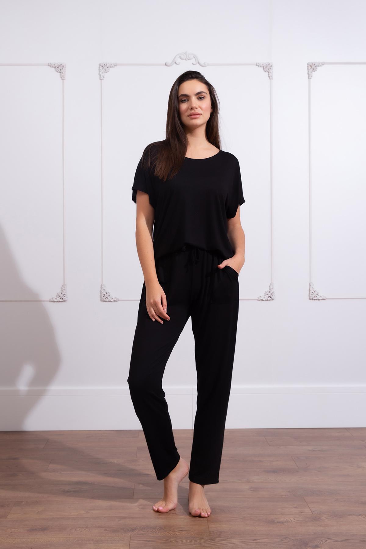 Kadın Büyük Beden Uzun Ev Giyim Takım