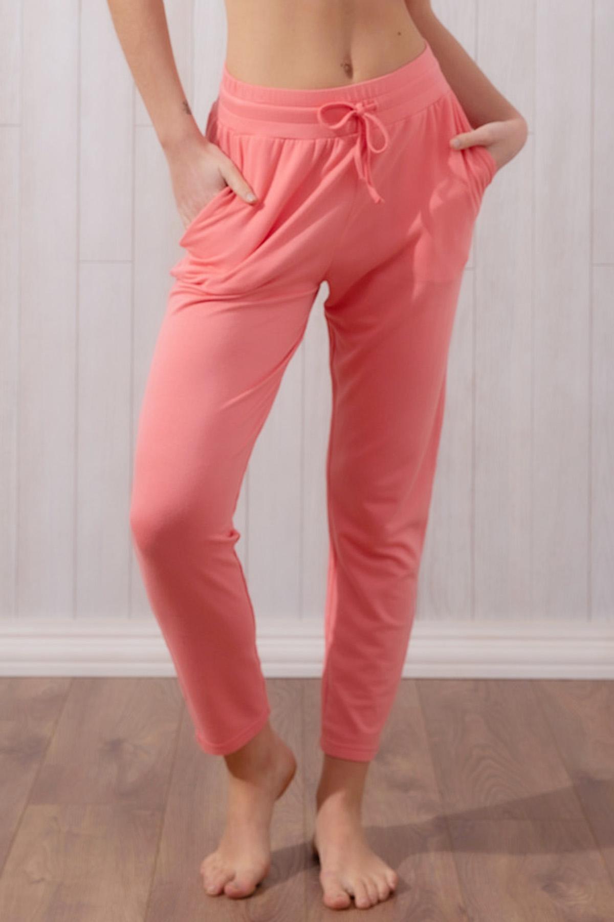 Kadın Modal Iki Iplik Pantolon