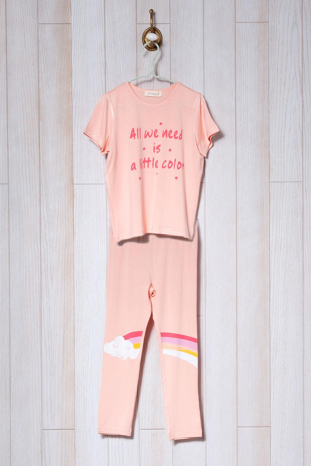 Kız Çocuk Midi - Kapri Pijama Takımı