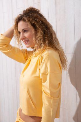 Kadın Iki Iplik Modal Kapşonlu Sweatshirt
