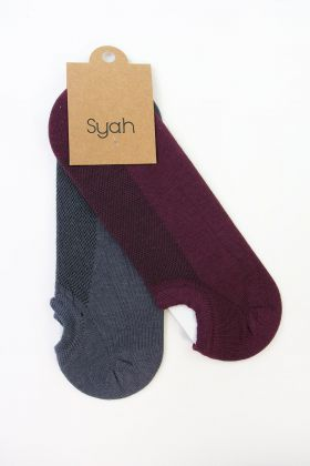 Erkek 2'Li Pamuk Patik Çorap Bordo-Antrasit