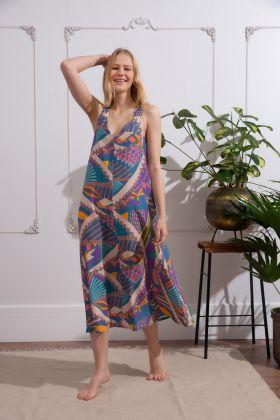 Kadın Kalın Askılı Uzun Elbise