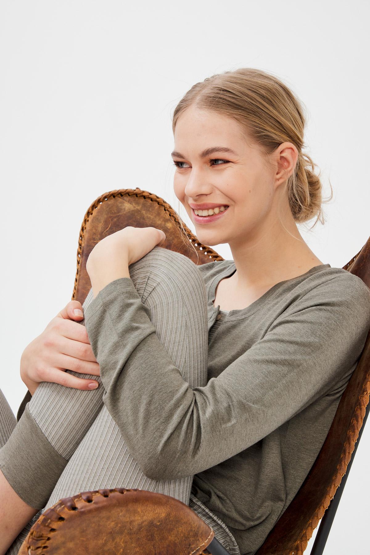 Kadın Modal Patlı Manşetli Uzun Pijama Takımı