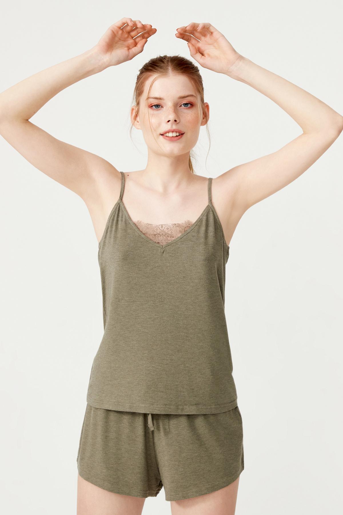 Kadın Askılı  Modal  Şortlu Pijama Takımı