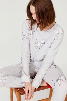 Kadın Uzun Pijama Takımı