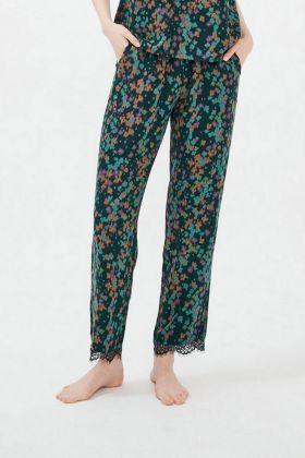 Kadın Vegan Dantel Detaylı Cepli Pantolon
