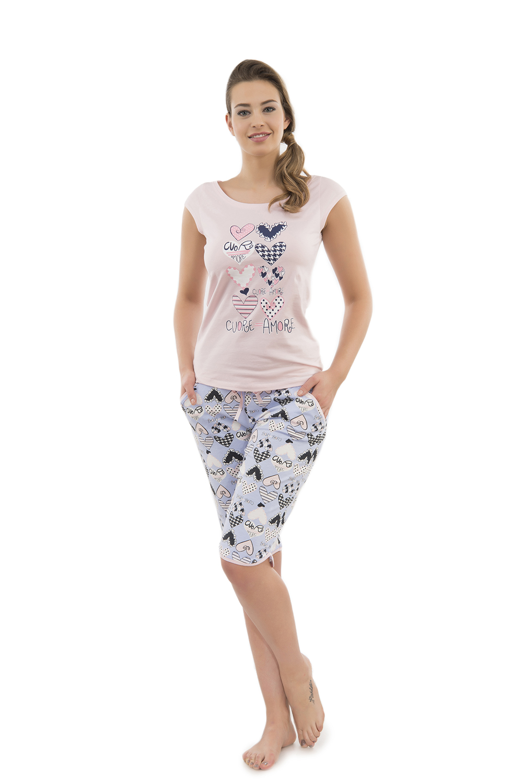 Hays Cuore Amore Penye Kadın Kapri Pijama Takımı