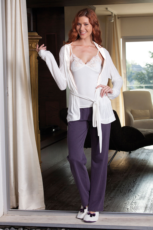 Hays Aura Kadın Triko Sabahlıklı Penye 3lü Pijama Takımı