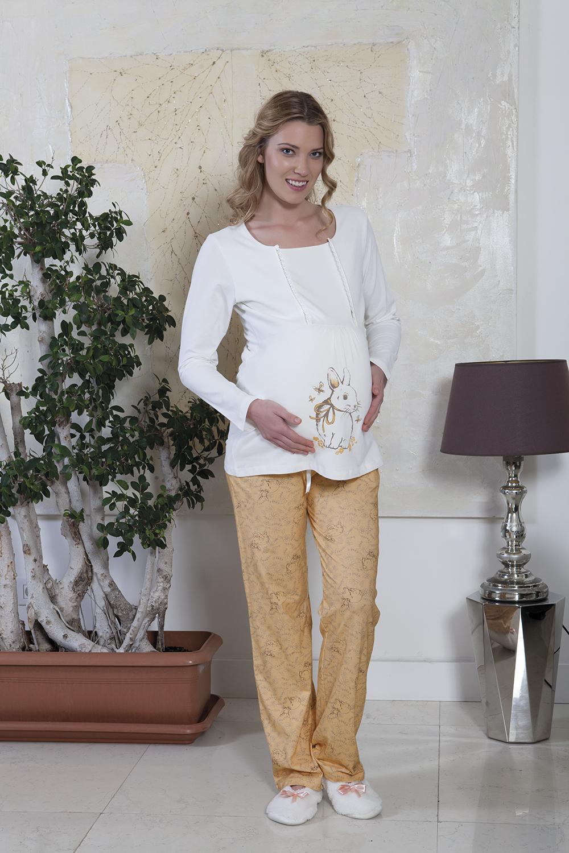 Hays Lohusa Penye Kadın 2li Uzun Pijama Takımı
