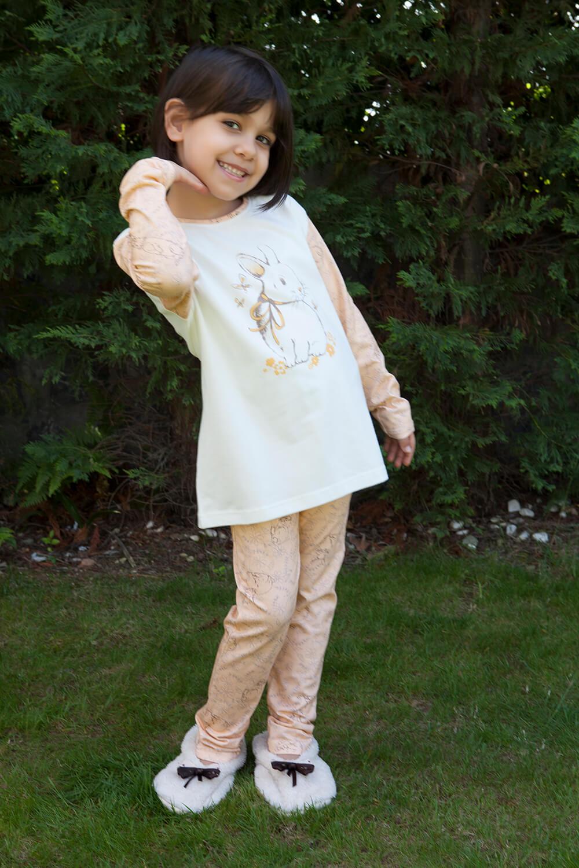 Hays Trina Penye Kız Çocuk 2li Uzun Pijama Takımı