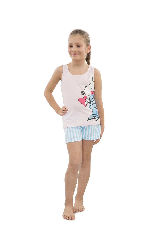Hays Kids Penye Kız Çocuk Şortlu Pijama Takımı - Pijama